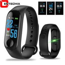 M3 Smart Wristband Big Touch Screen OLED Message Heart Rate Time Fitness Bracelet Smartband Watch for Android IOS Bracelet Watch(China)