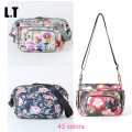 2017 Women Summer Floral Waterproof Beach Bag Nylon Crossbady Bag Storage Organizer Multi Pockets Small Hipster Shoulder Bag