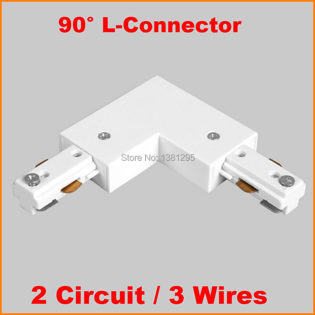 3 Wire 2 Circuit L shape Light Track rail connector aluminum track ...