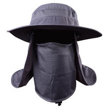 3color UV Protection Fishing Cap Sun caps With Breathable Shield Removable Neck Cape Sunshade Cap for camping fishing D1210HY