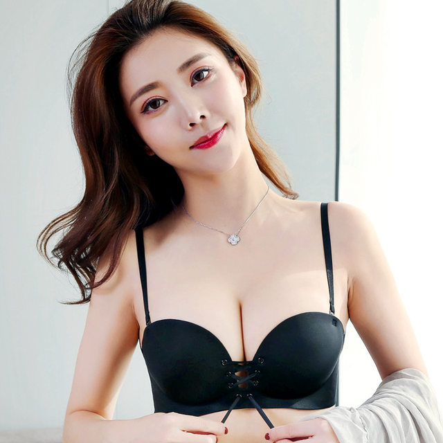 832457b813 Mozhini Small push up bra strap rope b female bra wireless lb seamless sexy  underwear bra finger massage palm cup bra