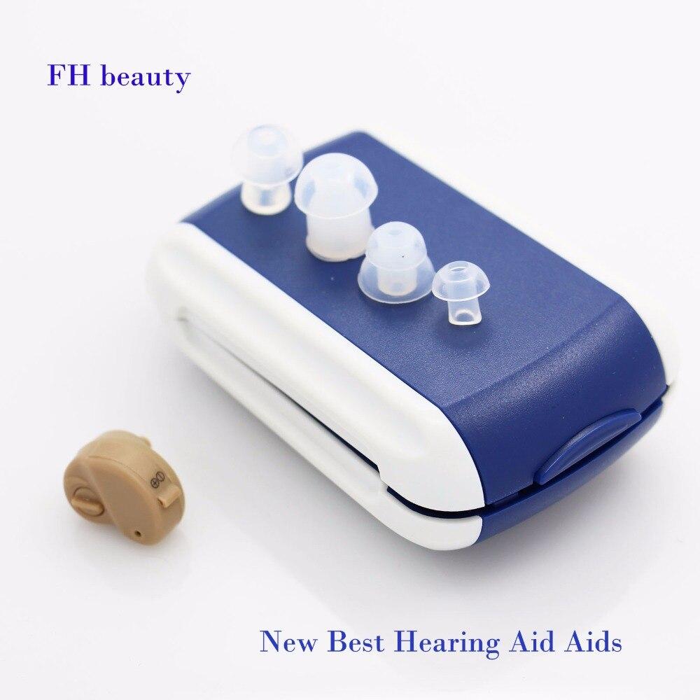 2017 neue Heißer Verkauf Ite Hörgerät Tragbare Kleine Mini In Die Ohr Invisible Sound-verstärker Einstellbar Tone Digitale Aids pflege