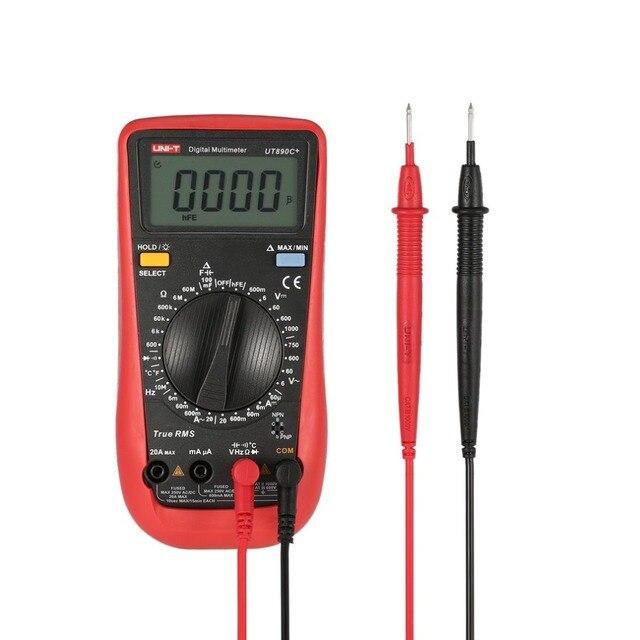 UNI-T UT890C+ Digital Multimeter True RMS AC/DC Meter Tester with 6000 Counts DC/AC Voltage Current Temperature