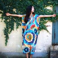 Women Summer Dress 2017 New Fashion Women Dress Cotton Linen Plus Size Long Designer Loose Oversized
