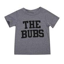Для мальчиков ясельного возраста детская одежда для девочек Топы корректирующие летние футболки с короткими рукавами хлопковая серая футболка верхняя одежда унисекс Детские Футболки для женщин Обувь для мальчиков