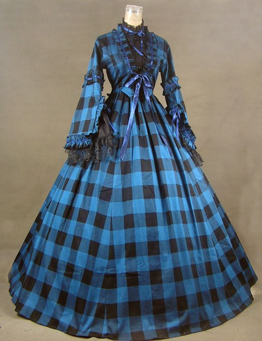 New Civil War Blend Tartan Ball Gown Theater Dress Prom Dresses-in ...