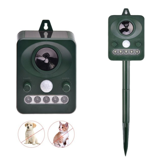 US $16 68 31% OFF| Pet Dog Ultrasonic Anti Barking Device Waterproof Solar  Animal Repeller Outdoor Dog Stop No Bark Control Training Supply -in