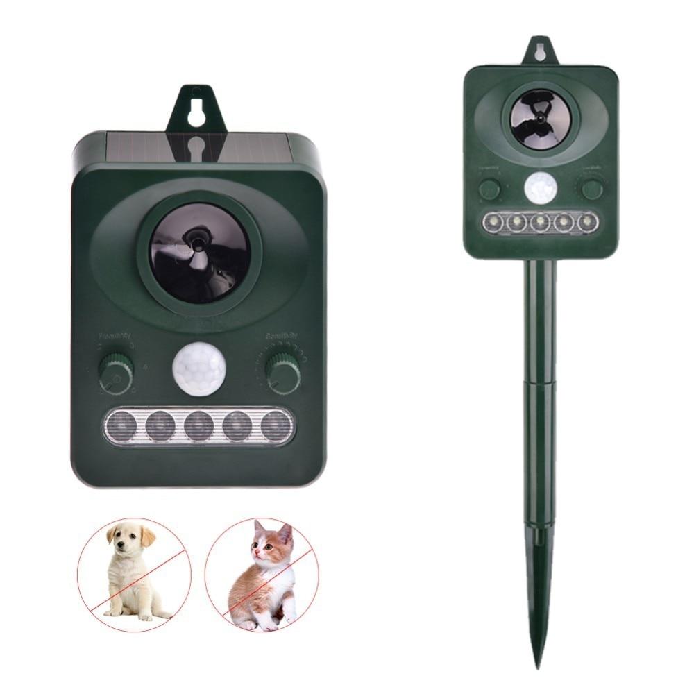 Pet Dog Ultrasonic Anti Barking Device Waterproof Solar Animal Repeller Outdoor Dog Stop No Bark Control Training Supply
