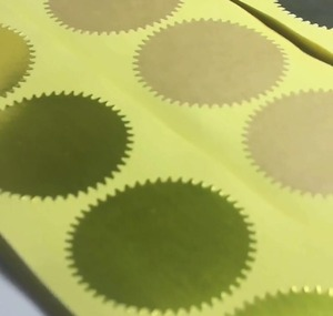 Image 3 - 500pcs 45mm Embosser Sticker for Embossing Stamp ,Customize Embosser seal ,Diy Embossing Seal for Card,University Certificate