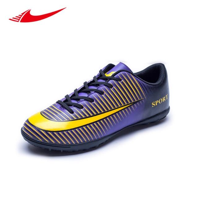 10a407bf03 Homens Sapatos De Futebol Adolescentes Beita Quadra Dura Baixo Relvado De Futebol  Homens Tênis de Futsal