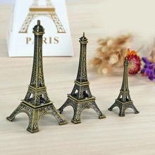 Iron Crafts Paris E-iffel Tower Architectural Model Decor Figurines Office Bar Study Decorations Europe Home Decor Ornament Gift(China)