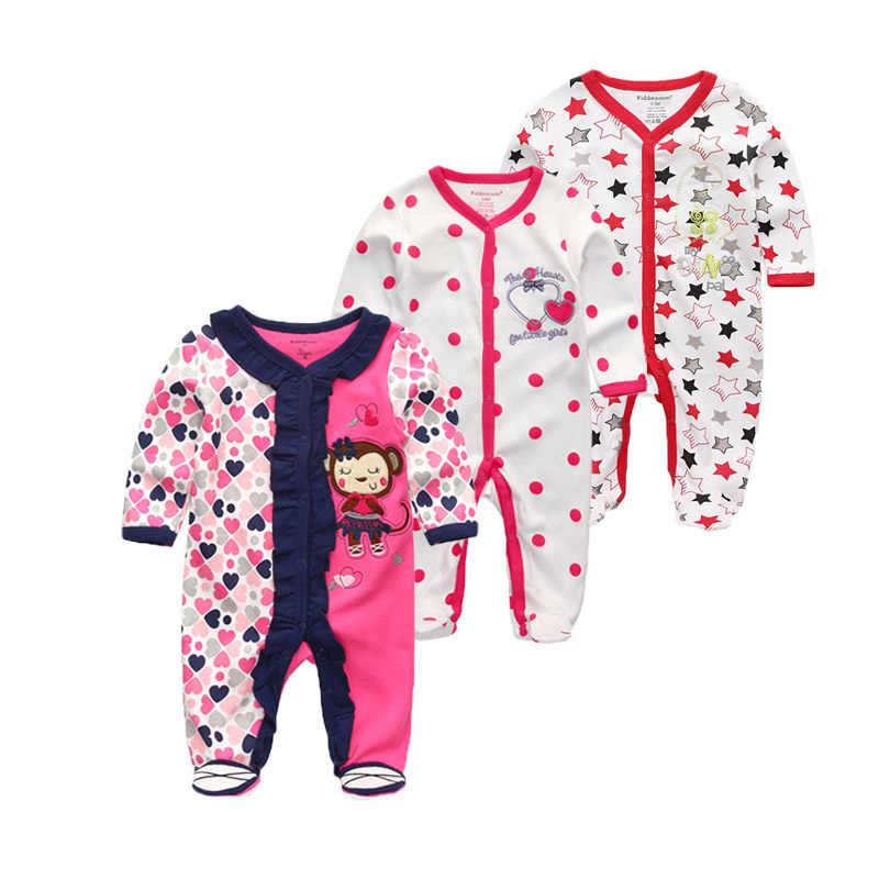 3 unids/lote de mamelucos de invierno para bebés recién nacidos, conjunto de manga larga de algodón para bebés, traje de bebé para niñas, ropa para bebé bebe (niño o niña)