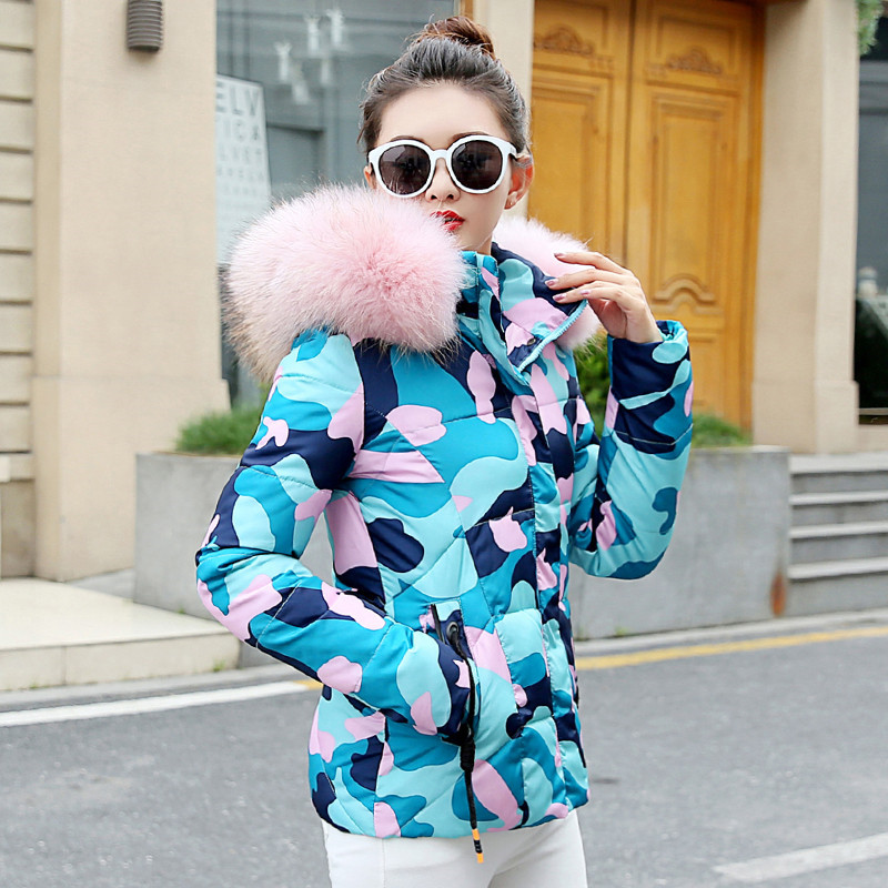 Women Winter Jacket Padded Short Parka Hooded Female Coat Thicken Cotton Mujer Chaqueta