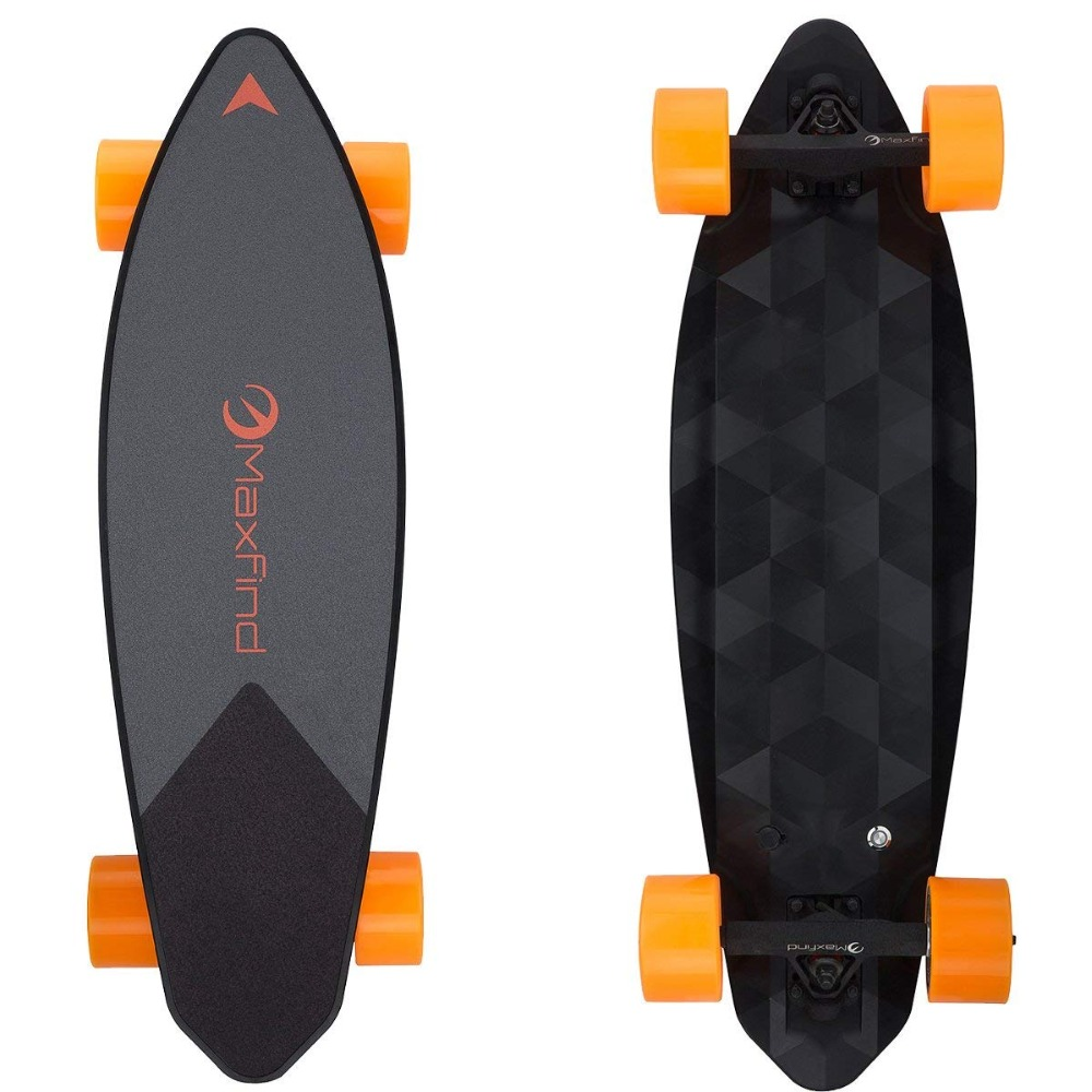 Maxfind Electric Skateboard Single Motor 500W IP65 Waterproof Range 16 Miles