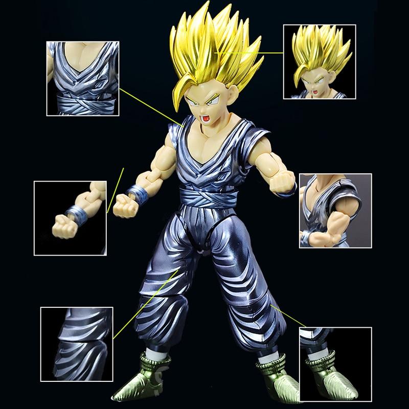Original Dragon Ball Super Saiyan Son Gohan Figure-rise Migatte Metal Coloring Assembled action figure collection model toy все цены