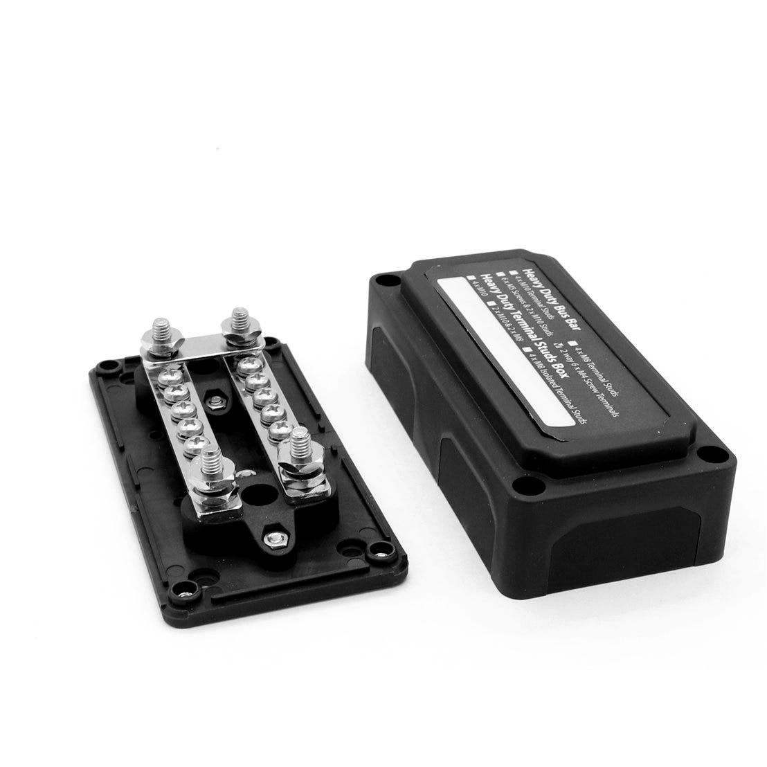 Universal 48VDC Car Bus Bar Power Negative Distribution Box Black Terminal Block 3Model Heavy Brass Nickel Plated
