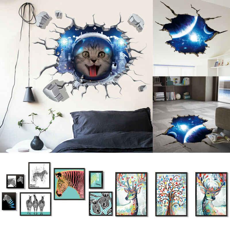 Się przestrzeń Galaxy planeta dzieci chłopiec sypialnia Art Vinyl 3D naklejki ścienne naklejka wystrój pokoju wiele