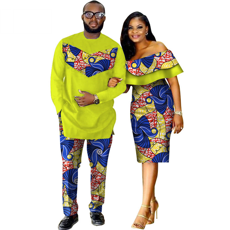 African-Dashiki-Print-Couple-Clothing-for-Lovers-Two-Piece-Set-Men-s-Suit-Plus-Women-s(15)