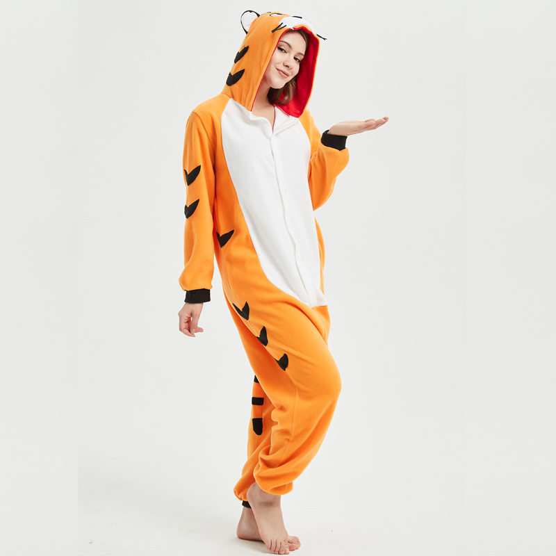 3bf4945856a Soft Bengal Tiger Kigurumi Animal Adult Onesie Orange Pajamas For Sister Women  Cosplay Unisex Sleepwear Stage Halloween Costume on Aliexpress.com