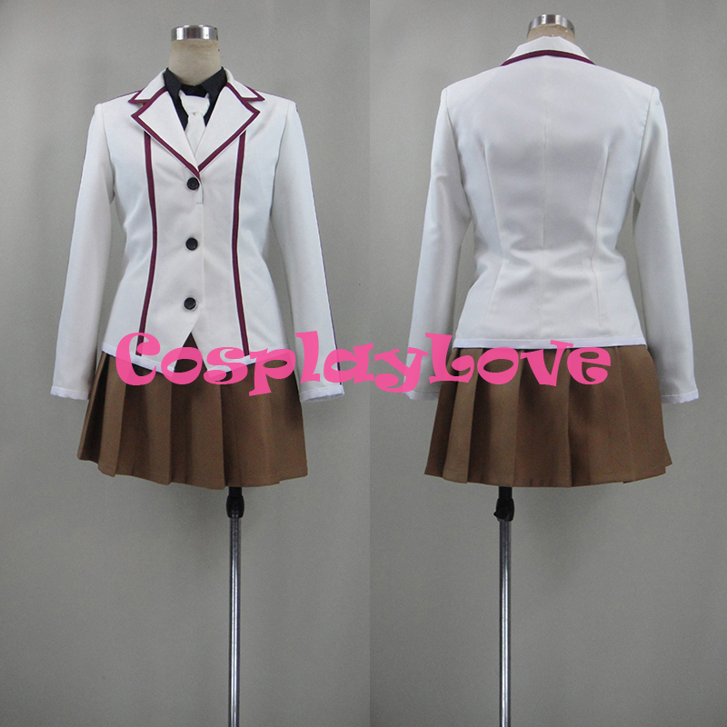 New Custom Made Japanese Anime Lance N' Masques Sae Igarashi Cosplay Costume High Quality CosplayLove Christmas Halloween