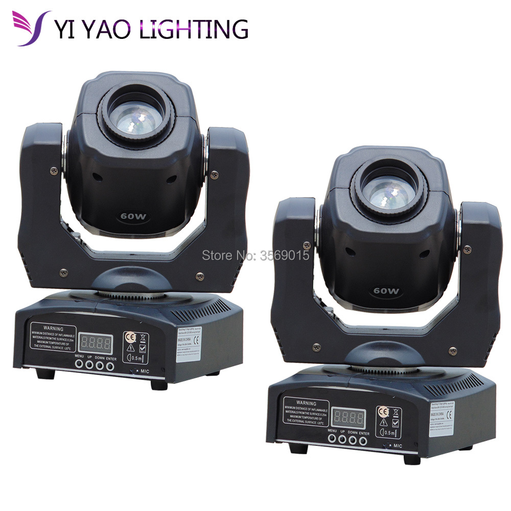 60W spot led moving head gobo lights with DMX control for projector dj stage lighting 2pcs/lot60W spot led moving head gobo lights with DMX control for projector dj stage lighting 2pcs/lot