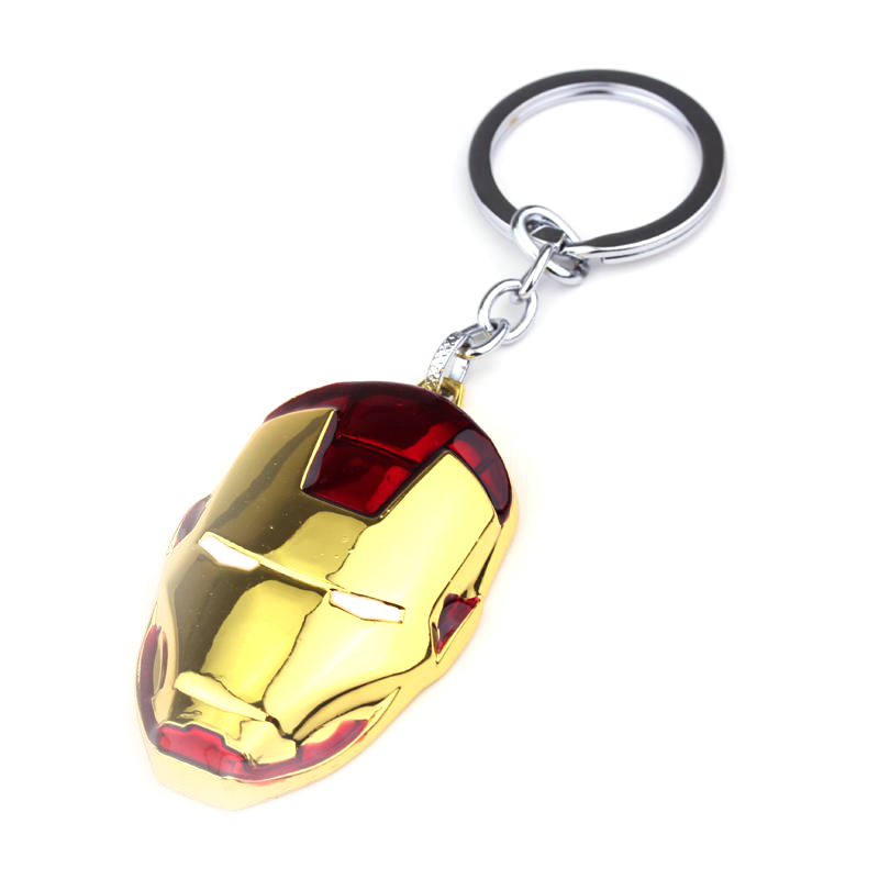 Marvel-Super-Hero-The-Avengers-Iron-Man-Masque-Keychain-3-Couleurs-Mode-mail-M-tal-Pendentif (1)