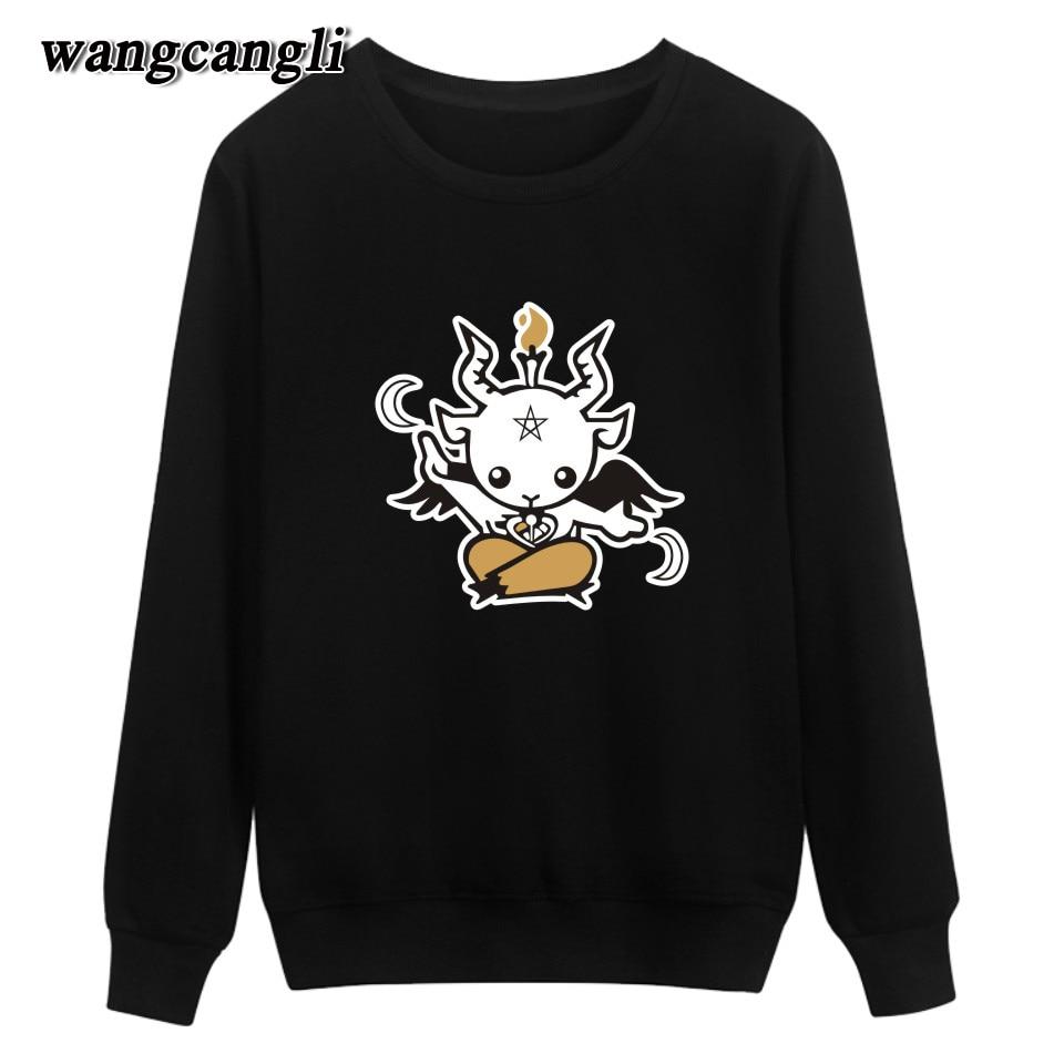 New Satan Printing Winter Warm Casual Style Fashion Sweatshirt And Cool Hoodies Men Brand Designer Mens Sweatshirt With