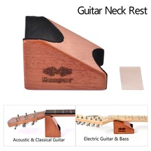Mahogany Guitar Neck Rest Support Neck Pillow Guitar Mat for Both Electric Guitar and Acoustic Guitar Bass Luthier Setup Tool electric acoustic guitar body neck saddle open tool