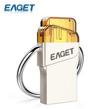 Eaget V66 USB 3.0 High Speed 16G 32G 64G Waterproof Shockproof USB Flash Drive Pen Drive U Disk Storage Stick For Smartphone PC