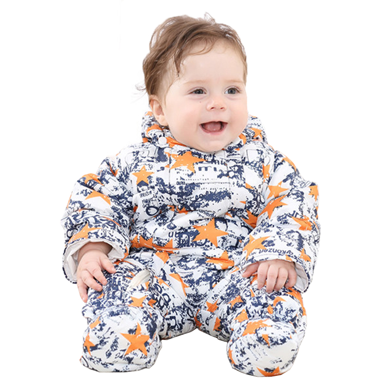 Kids Down Coat Newborn Romper for Baby Boys Costume Winter Baby Snowsuit Warm Baby Rompers Colorful