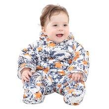 Дети Вниз Пальто Новорожденных Ползунки для Мальчиков Костюм Зимние Детские Snowsuit Теплый Baby Rompers Красочные Одежды LTY39