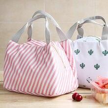 6164137a1c017 Zarif yalıtımlı öğle yemeği kutusu çanta öğle yemeği çantası su geçirmez  çanta öğrenci pirinç iş soğutucu