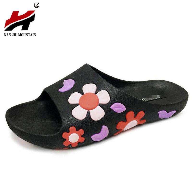 Women Slippers Summer Beach Shoes Flower Flip flops Women Slippers Fashion Platform Sandals Women's Non-slip Shoes Size 35-40