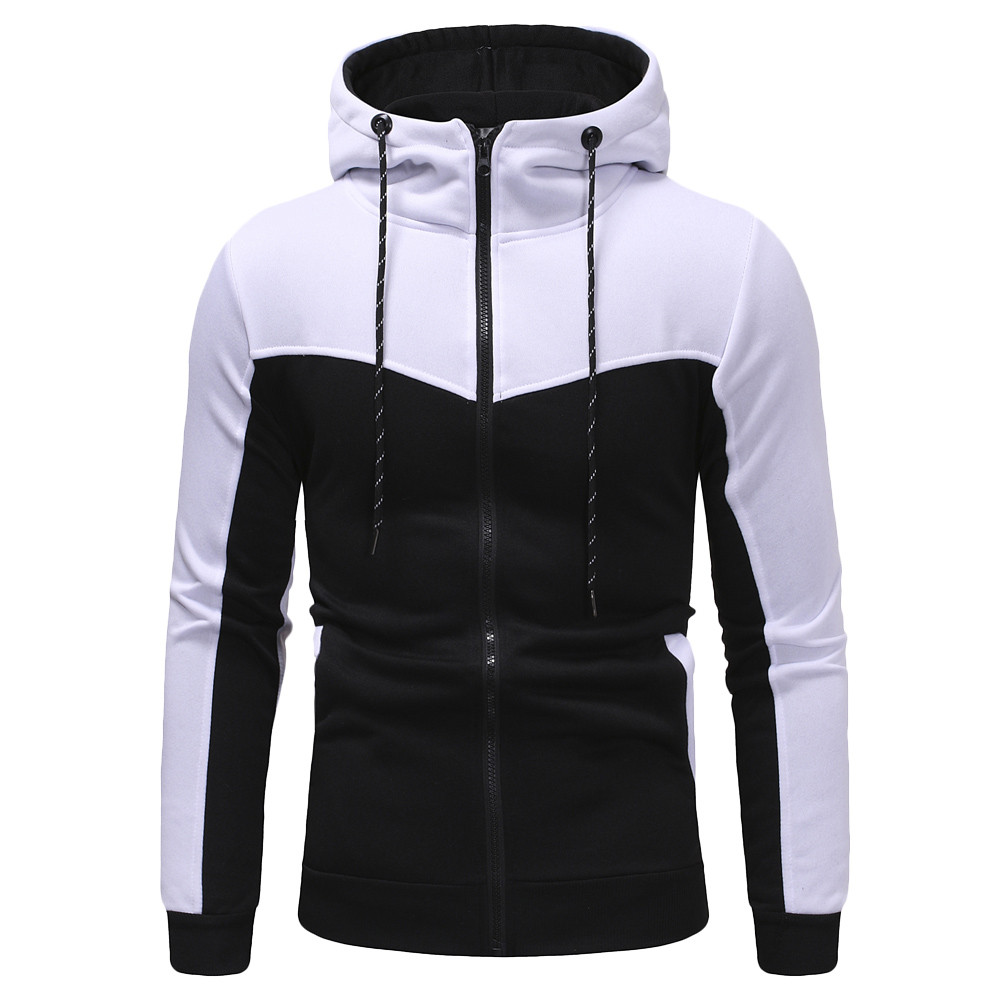 Sweatshirt Mens Autumn Winter Casual Packwork Slim Fit Sweatshirt Hoodies Top Men's zipper Warm Outdoor sport Top oct23(China)