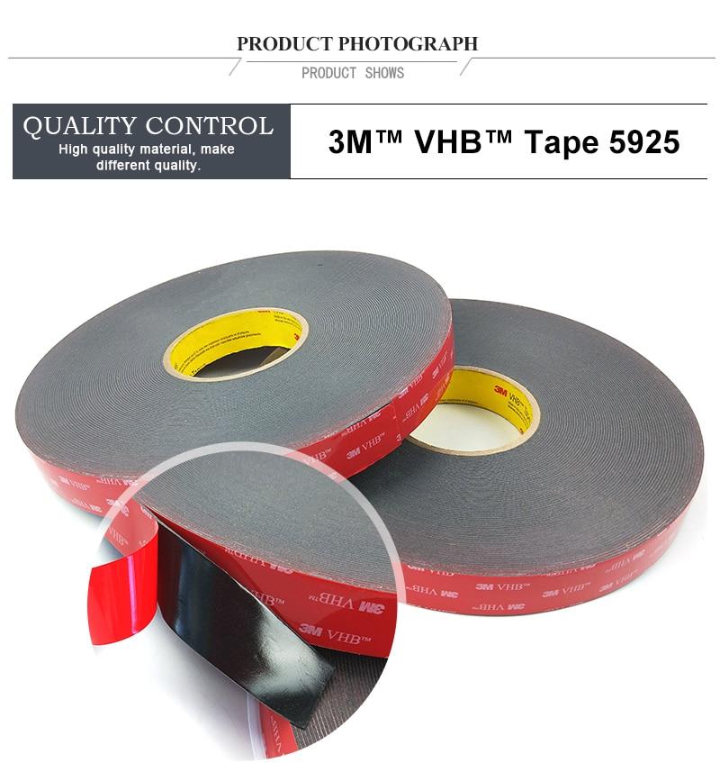 Гарантия лента 3M VHB 5925 высокие липкие акриловый пенный скотч/12 мм* 33 м/5 рулонов/lot/Толщина: 0,64 мм