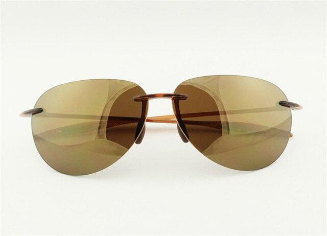ed070247dcb6 High Quality Men's Ultra-light TR-90 Rimless Mirror Lens Polarized UV400  Sunglasses Outdoor