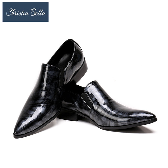 Christia Bella Handmade Mens Loafers Fashion Banquet and Prom Wedding Men  Dress Shoes Office Suit Shoes Summer Slippers Men 2b5c034daaf1