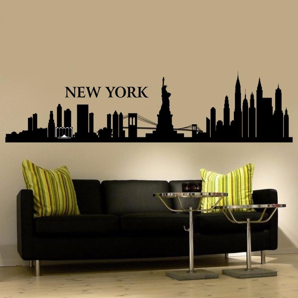 Online Get Cheap Nyc Wall Sticker Aliexpresscom Alibaba Group - New york wall decals