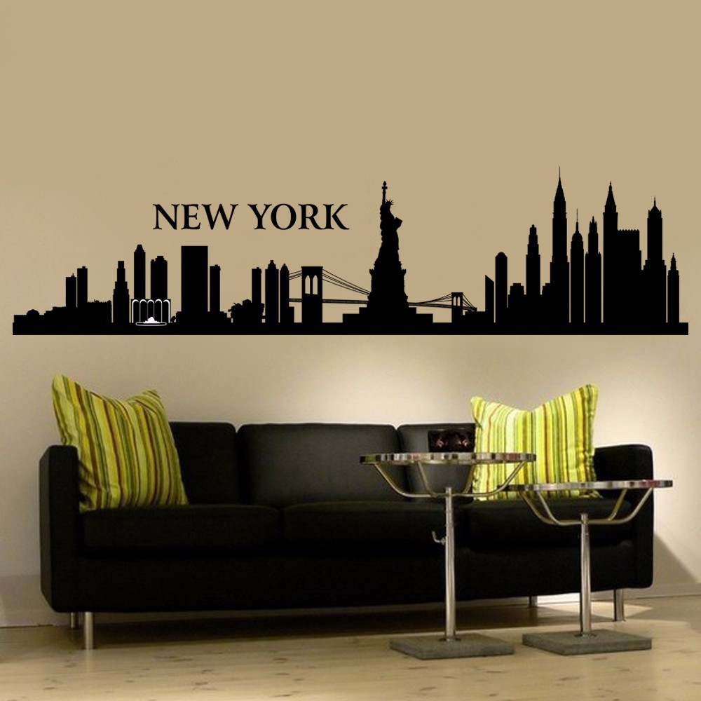 Amazing Wall Decal New York City NYC Skyline Cityscape Travel Vacation Destination  The Big Apple 55.88cm Pictures