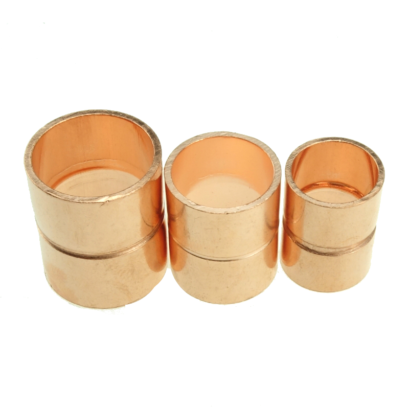 25.4 Mm- 50mm ID Copper End Feed Equal Striaght Coupling Pipe Fitting Plumbing For Gas Water Oil