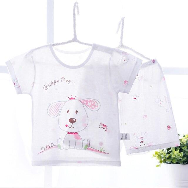 d1bb94762 Pijama de verano 2018 conjunto de ropa de dormir fina fresca para bebés  pijamas para niños