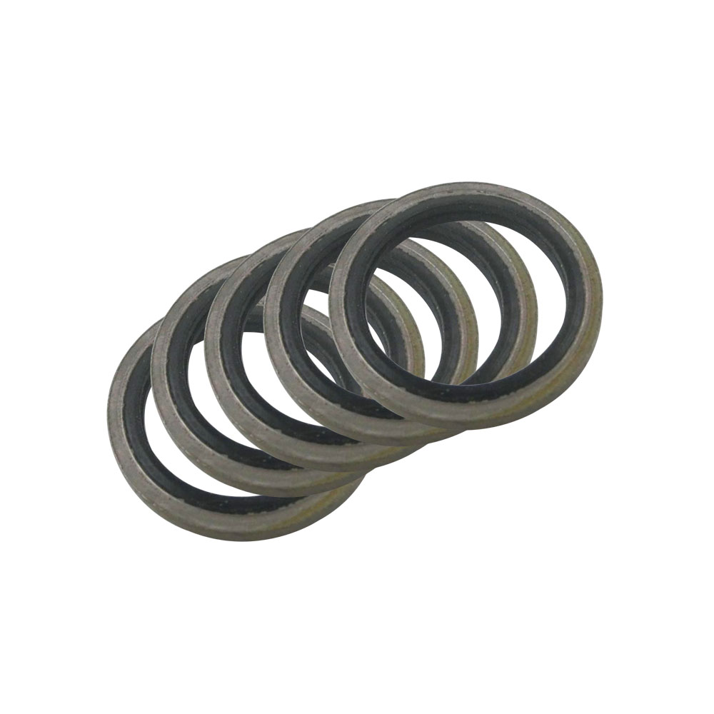 rubber sealing washer m10 - 6/8/10/12/14/16mm Bonded Washer Metal Rubber Oil Drain Plug Gasket Fit M6/M8/M10/M12/M14/M16 Combined Washer Sealing Ring