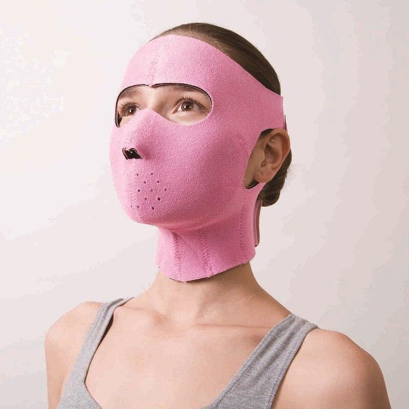 Güzellik ve Sağlık'ten Bakım ve Maskeleri'de Japon Cogit Neopren Yüz Maskeleri Facelift Maskesi Destekler Pembe Germanyum Yüz Sauna Kauçuk Maske Kadınlar Şekli 3D V  yüz'da  Grup 3