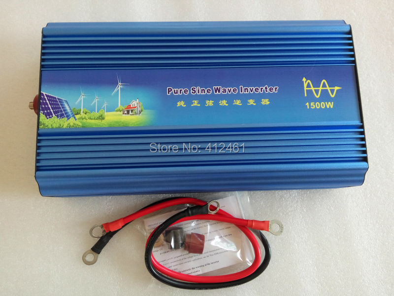 High Quality Pure Sine wave <font><b>Inverter</b></font> 24V TO 110V 60HZ <font><b>1500W</b></font>(3000W peak power) home use image