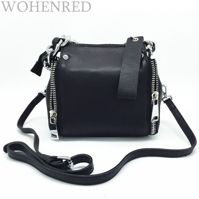 Autumn Winter Fashion Chain Genuine Leather Women Shouder Bag Small Size Female Messenger Bag Designer Brand Famous Tote Handbag