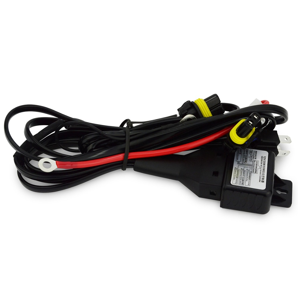 1PCS 12V 35W/55W H4 hid relay harness hid xenon kit H4-3 H13-3 bixenon wiring harness hi lo controller wire cable harness