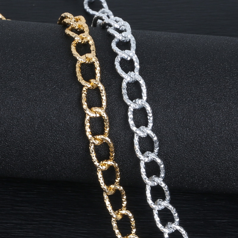 3//10 M Black Gold Plated Cable Open Link Iron DIY Retro Charm Metal Chain