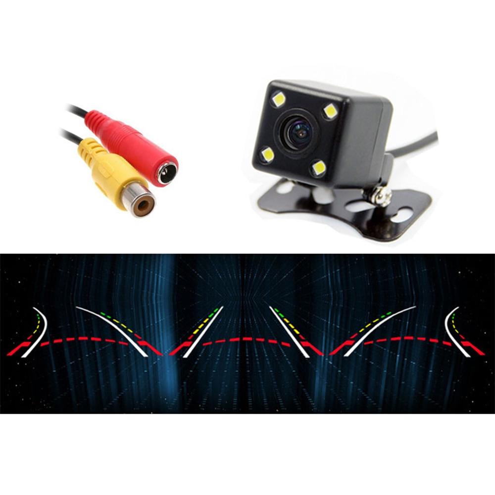 ANSHILONG 4 LED Car Rear View Backup font b Camera b font Moving Dynamic Trajectory Parking