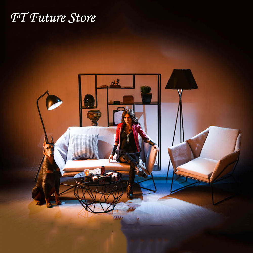 Collectible 18XG30 1/6 Figure Scene Accessories Furniture Series Sofa/Tea Table/Floor Lamp/Table Lamp Model Toys For 12'' Action