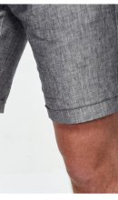 Linen turn-up leisure shorts